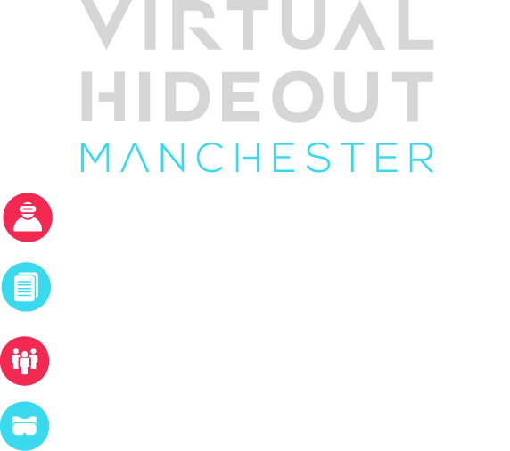Virtual Hideout Manchester | Manchester's virtual reality and gaming centre — Over 100 VR and gaming experiences available - Teams of 1-14 - Experience the future today